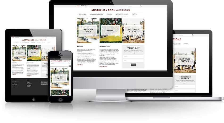 Photo of Australian Book Auctions website