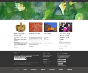 Screenshot of Arts Project Australia website