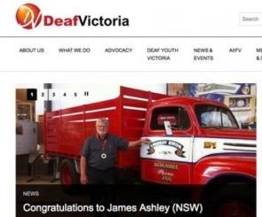 Screenshot of the Deaf Victoria website