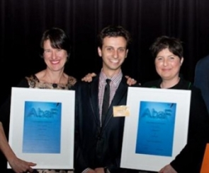 Photo of Web Prophets receiving AbaF Award